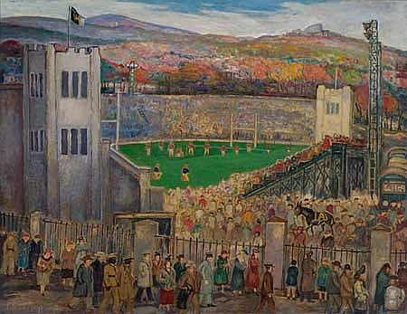 PALMER HAYDEN (1890 - 1973) Michie Field, West Point.