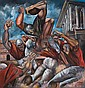 ERNIE BARNES (1938 -  ) Untitled (Football Game)., Ernie E. Barnes, Click for value