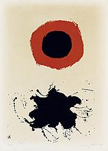 ADOLPH GOTTLIEB Red Halo--White Ground.