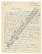 (LAWRENCE, DAVID HERBERT.) LAWRENCE, FRIEDA. Group of 25 Autograph Letters,