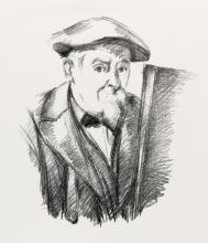 PAUL CÉZANNE Portrait de Cézanne par lui-même.