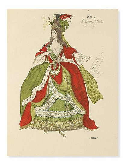(BAKST, LÉON.) Réau, Louis; et al. Inedited Works of Bakst.