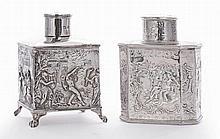 An Edwardian silver tea caddy, by Thomas Hayes,