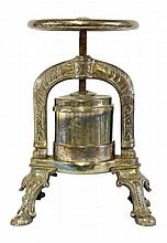 A silver-plated duck press, late 19th/early 20th