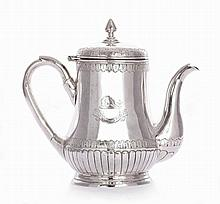 A Chinese silver teapot, probably by Hung Chong,