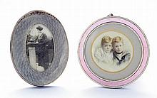 A Continental silver photograph frame, of pale