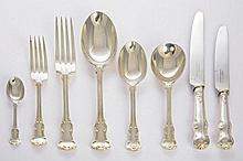 A silver princess pattern flatware service, by