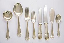 A silver dubarry pattern flatware service, by
