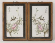 A pair of porcelain Plaques