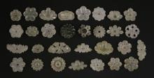 An appealing collection of floral Jade Buttons