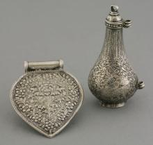 A Malaysian silver female Pubic Cover ('Caping')