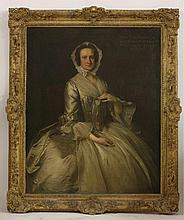 Thomas Hudson (1701-1779)  PORTRAIT OF MARY, WIFE OF SIR WILLIAM BROWNE AND DAUGHTER OF CHARLES