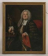 Thomas Hudson (1701-1779)  PORTRAIT OF SIR WILLIAM BROWNE (1692-1774), THREE-QUARTER LENGTH SEAT