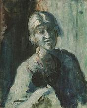 Philip Wilson Steer (1860-1942)  STUDY OF A WOMAN, HALF LENGTH  Signed l.l., oil on canvas