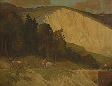 Lewis George Fry (1860-1933)  'THE CHALK PIT, OXTED'  Signed and inscribed with title verso,