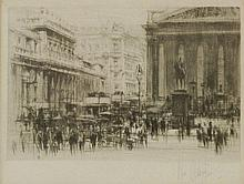 William Walcot (1874-1943)  'BANK OF ENGLAND AND THE ROYAL EXCHANGE'  Etching and drypoint,