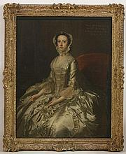 Thomas Hudson (1701-1779)  PORTRAIT OF MARY, DAUGHTER OF SIR WILLIAM BROWNE, WIFE OF WILLIAM FFO