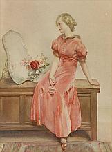 *Walter Ernest Webster (1878-1959)  'ENGLISH ROSE'  Signed l.c., inscribed with title verso,