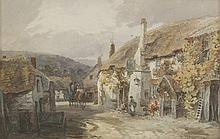 Alfred Leyman (1856-1933)  'THE SHIP INN AT PORLOCK'  Signed l.r., watercolour  48 x 73c