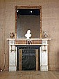 An Aesthetic overmantel mirror, c.1875, the frame