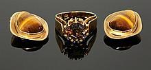 A Continental single stone smokey quartz ring,