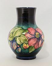 A Moorcroft pottery Vase, c.1950, of ovoid shape,