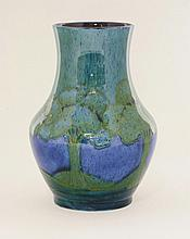 A Moorcroft 'Moonlit Blue' vase, c.1925, of