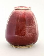 A Ruskin high fired vase, dated 1933, with a