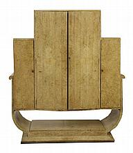 An Art Deco burr walnut cocktail cabinet,  attributed to Epstein with a