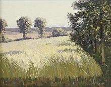 Norman Lloyd (Australian, 1895-1983)  A TREE-LINED FIELD  Signed l.