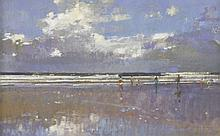 *David Sawyer (b.1961)  'SURFERS AND SWIMMERS, CORNWALL'  Signed l.