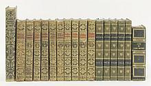 FINE BINDING:1.  Byron, Lord: The Works.  In five volumes, Murray, 1817, half leather.  VG;2.  Hom