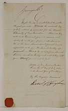 SIGNED AUTOGRAPHED LETTERS:1.  George IV, King of England (1762 - 1830); and Lord Howard of Eppingh