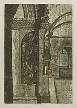 *Valerie Thornton (1931-1991) CLOISTER AT ARLES Etching with aquatint, signed, inscribed with title ...
