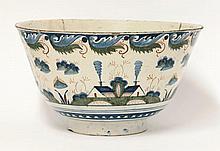 A Bristol delftware polychrome deep Bowl, c.1720,
