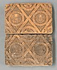A pair of rare terracotta Tiles, 1594, each of