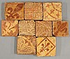 Nine miscellaneous encaustic Tiles, medieval, each