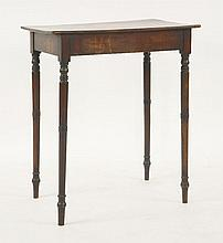 A George III mahogany side table,