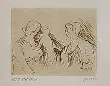*Henry Moore, OM (1898-1986)  MOTHER AND CHILD