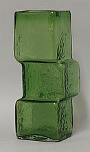 A Whitefriars meadow-green drunken bricklayer vase