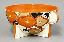 A Clarice Cliff 'Orange Chintz' Odilon bowl,