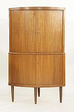 A Danish teak corner cupboard,  86cm wide