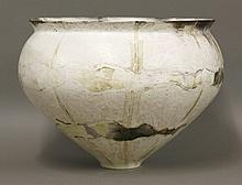 A smoke fired bowl,  by Jane Perryman, incised
