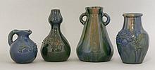 An Elton 'Sunflower' pottery gourd-shaped vase,