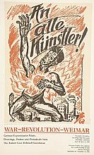 Four German Expressionist posters,  largest 10