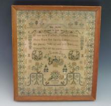 An early George III needlework sampler