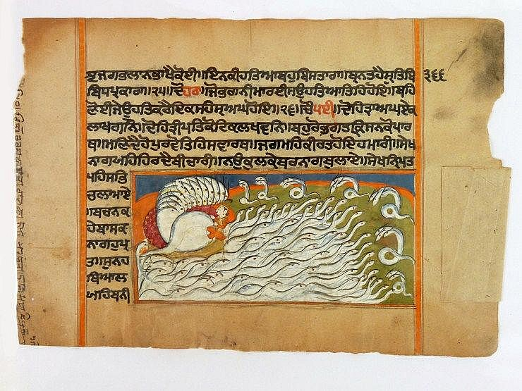 Thirty-five illustrated leaves from a Hindu