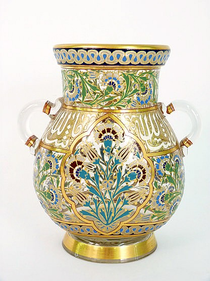 J and L Lobmeyr, a gilded and enamelled