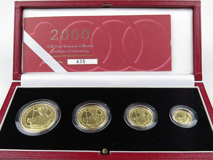 A Britannia gold proof four coin collection, dated
