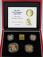 A gold proof four coin sovereign collection, dated